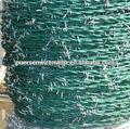 Recubierto de pvc alambre de púas( fábrica)