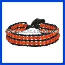 new 2014 Double Salmon Pink Color Wrap Bracelets Jewlery TPCL137#