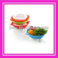 flexible colander with stands,plastic colander for vegetable