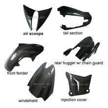 Carbon fiber motorcycle parts motorcycle fairings for Kawasaki z1000
