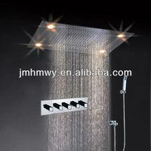 High quality square rain shower faucet set remote control