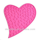 heart shaped silicone mat