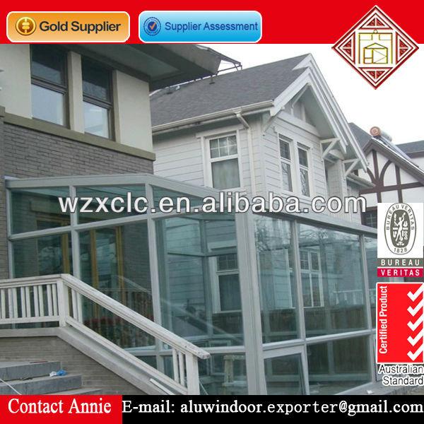 2014 new style high quality outdoor aluminium glass sunroom for villas