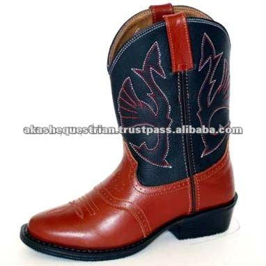 español de cuero botas de montar a caballo