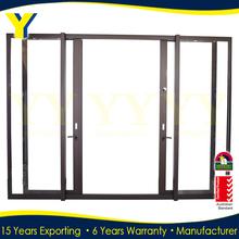 AS2047 aluminum standard size double panel sliding glass doors