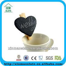 slate heart shaped wedding decoration