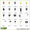 PP+UV Pinlock Insulator/Plastic Insulator/Electric Fence Insulator for Steel Post