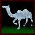 Led figuras de navidad de acrílico 3d 24-240v animales de tensión y de vacaciones de navidad led camel con motivos de animales de modelado de navidad la luz