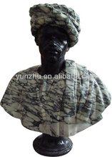 El último diseño de estilo africano , hombre de la escultura de mármol famosa de la escultura del busto