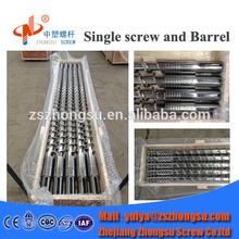 High quality 38CrMoALA bimetallic extruder screw & barrel design for PP/PE/PVC plastic machine