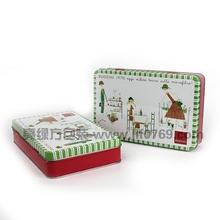 printed rectangle metal tin box,metal tea box