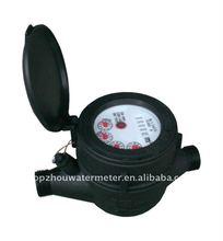 Nylon plasitc multi-jet dry-dial type cold water meter