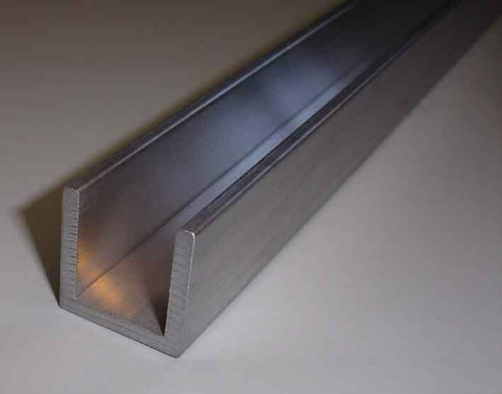 6061 de aluminio de u canal con alta mecanizado y - Perfil de aluminio en u ...