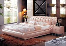 latest bedroom furniture Elegant double princess bed design 8693