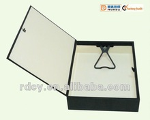 High quality FC/A4 Rigid Box File with plastic clip and finger ring