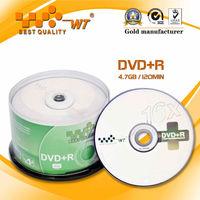 Blank DVD+R Disc 4.7GB 16X Cake Box Pack