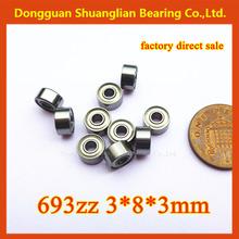 miniature deep groove ball bearings 693zz 3x8x4mm home appliance foil bearing 693