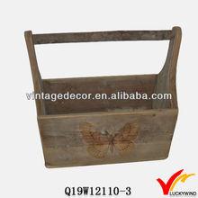 Luckywind wooden Garden tool tote