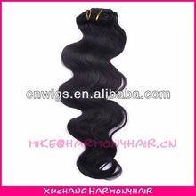 clip in body wave human hair extensions/cheap full head clip in hair extensions/clip in hair extensions remy one piece
