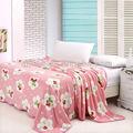 luxo macio velo coral throw bed rosa