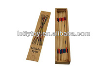 Kids colorful wooden mikado game set