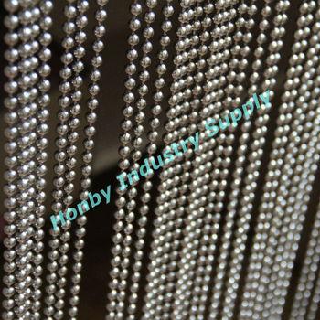 Hanging ball chain luxury metal drapery