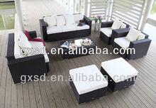 S&D aluminum luxury rattan furniture diwan