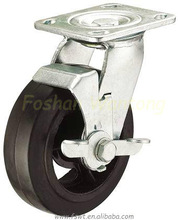 Industrial Side-brake 8 Inch Rubber Castor Wheels