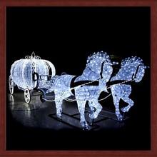 3D pumpkin carriage and horses motif decorative light fancy 2014 new product
