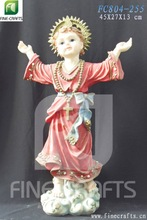 Polyresin religious boy Jesus statue