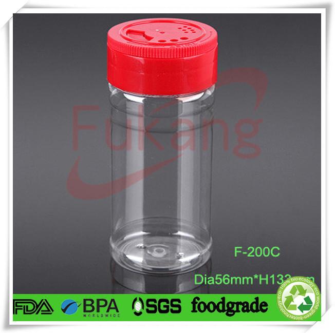 Plástico frascos de especiarias, plástico tempero frascos, frasco de especiarias