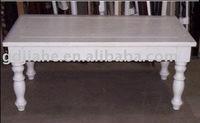 Modern white coffee table,homemade luxury wood coffee table