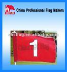 Custom golf banner flags, golf tube