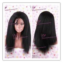 Tangle free kinky straight fashion black long afro wigs