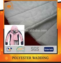 Polyester silk-like wadding