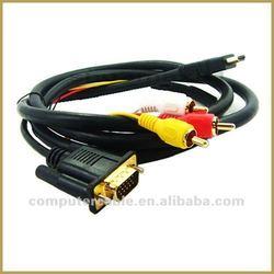 HDMI to VGA 3 RCA Cable