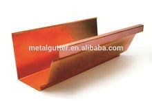 seamless copper rain gutters