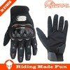RIGWARL 2014 Best Protective Leather Black Full Finger Motorbike Glove Cheap for Christmas Day