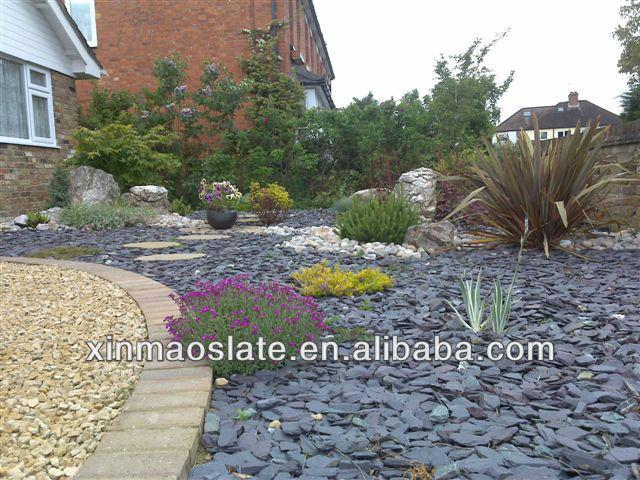 Landscaping With Slate Rock : Natural slate landscape stone black jpg