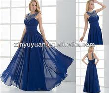 Luxurious Jewelry Neck Chiffon evening dress XYY06-034 Lady evening desses 2013
