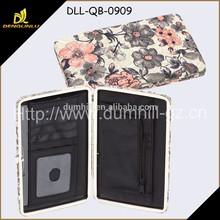 Fashion metal frame flat wome wallets