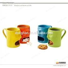 Assorted Color 400ml Ceramic Biscuit Mug For Advertising