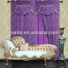 Fashion Valance Doubel Layer Jacquard Finished Curtain Design(blackout tessuti per tende on-line)