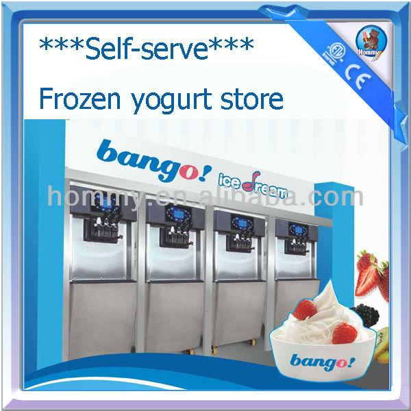 self serve frozen yogurt machine