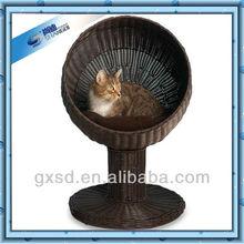 plastic rattan round shape pet tree house