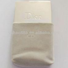White velvet cosmetic pouch for women