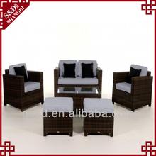 S&D handicraft synthetic rattan danish sofa