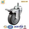 4-inch Medium duty Swivel TPR Wheel Caster with Total Brake