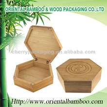 custom wood box engraving logo NEW fashionable and snappy empty bamboo packaging box gift container OEM