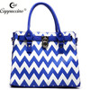 wholesale branded lady fashion beautiful chevron Zig Zag designer shoulder hand bags leather bags woman 2014